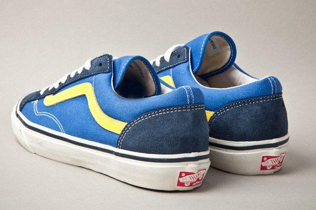 Vans Vault Og Style 36 Blue Yellow Heels 1