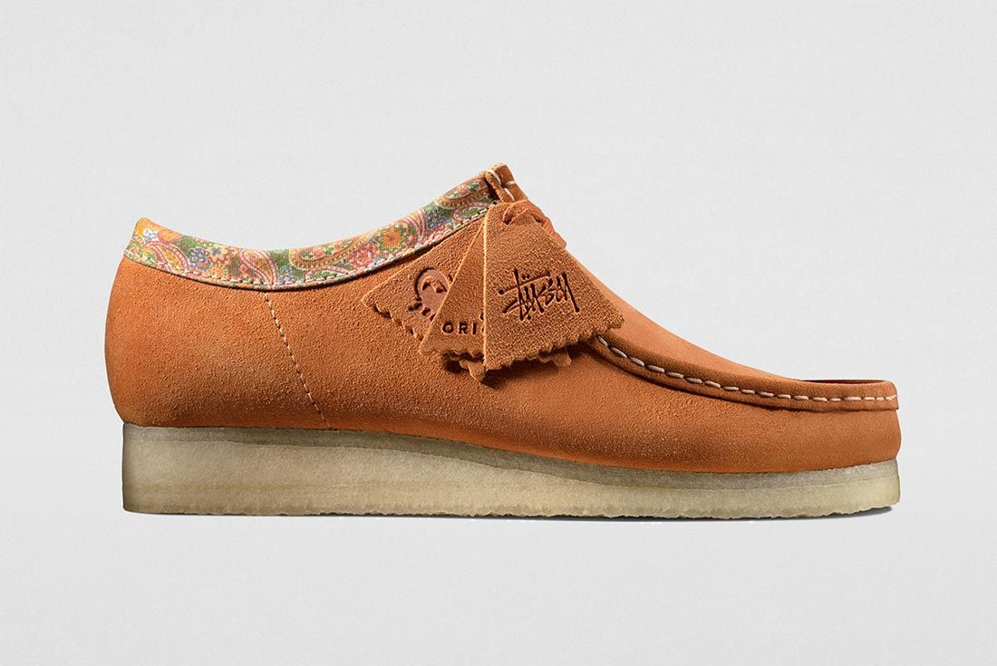 Stussy Clarks Wallabees Brown Right Side