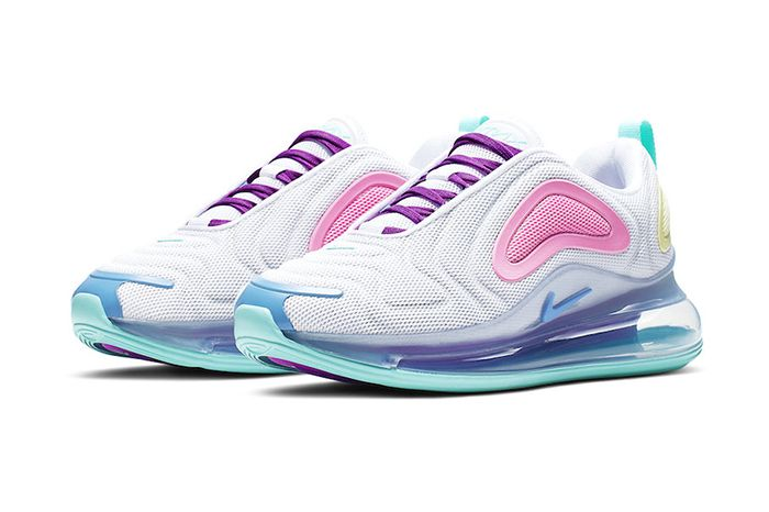 Nike Air Max 720 White Light Aqua Psychic Powder Ar9293 102 Release Date Pair