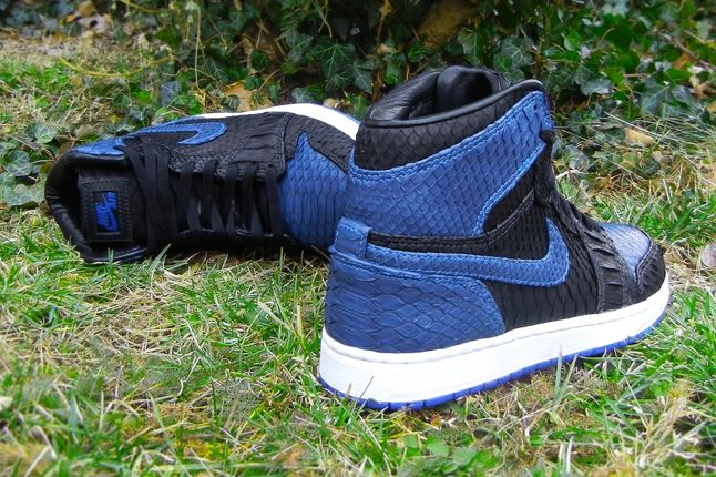 Jfb Customs Snakeskin Aj1 Royal Heel Hero 1