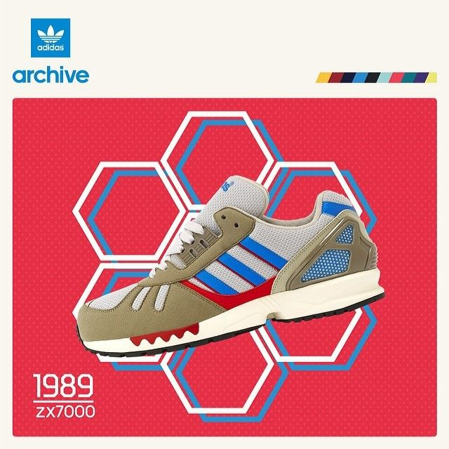 Adidas Zx 7000 Red Blue White1