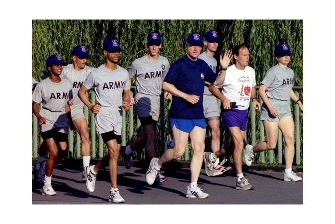 Running For President Bill Clinton Asics Gel Saga Running