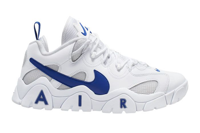 Nike Air Barrage Low 2020 White Royal Blue Cd7510 100 Lateral Side Shot