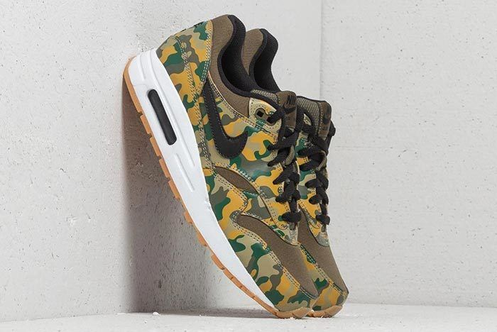 Nike Air Max 1 Print Gs Medium Olive Black 1