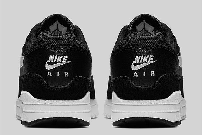 Nike Air Max 1 Black And White Ah8145 014 Heel Shot 3