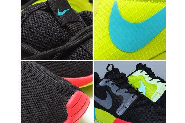 Nike Roshe Run Hyperfuse Black Venom Green 2