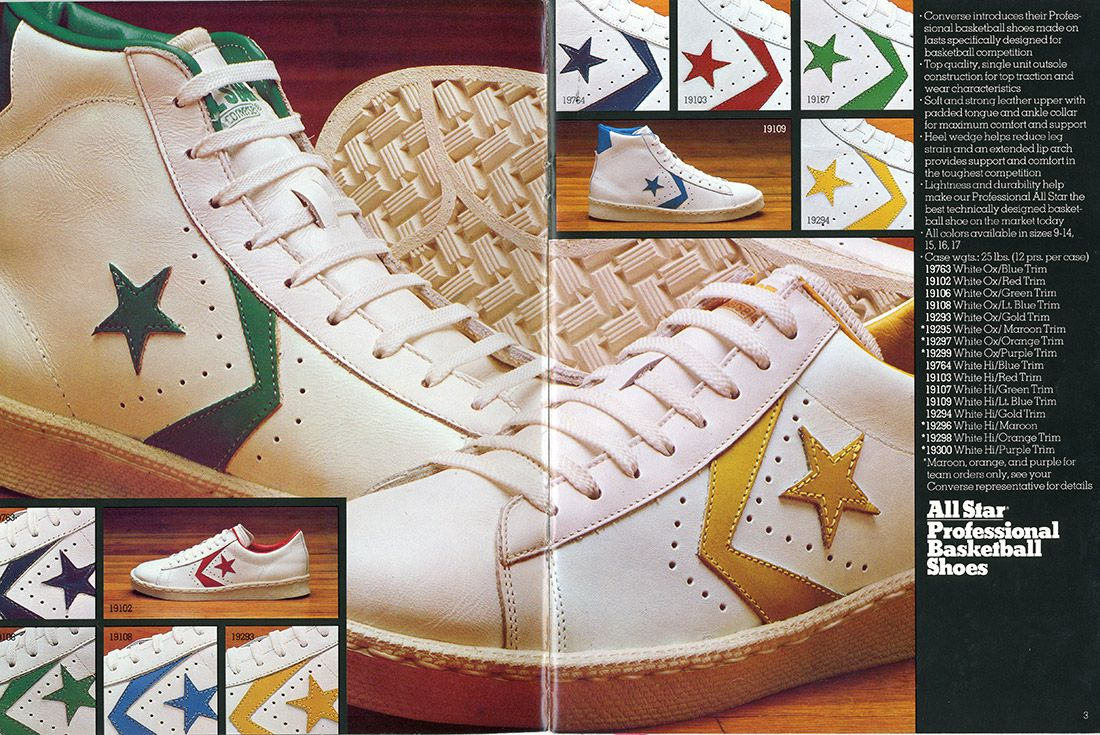 History Converse Pro Leather 1976