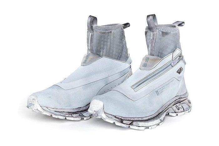 11 By Boris Bidjan Saberi X Salomon Spring Summer 2020 Footwear Sea Blue Three Quarter Angled Lateral Side Shot