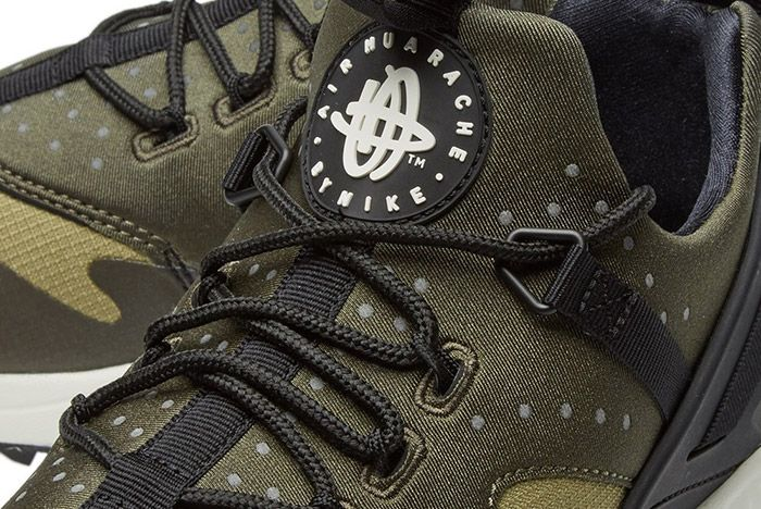 Nike Air Huarache Utility Trooper Sail Olive Green 2