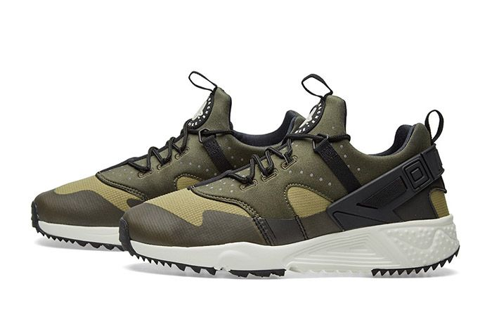 Nike Air Huarache Utility Trooper Sail Olive Green 4