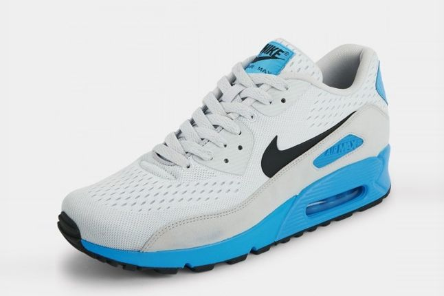 Nike Air Max 90 Premium Em White Blue Angle 1