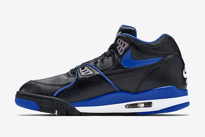 Nike Air Flight 89 Black Royal Blue 819665 001 Medial