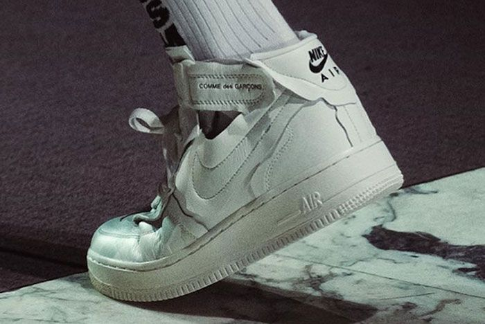 Comme Des Garcons Nike Air Force 1 Mid Release Date 1 Leak