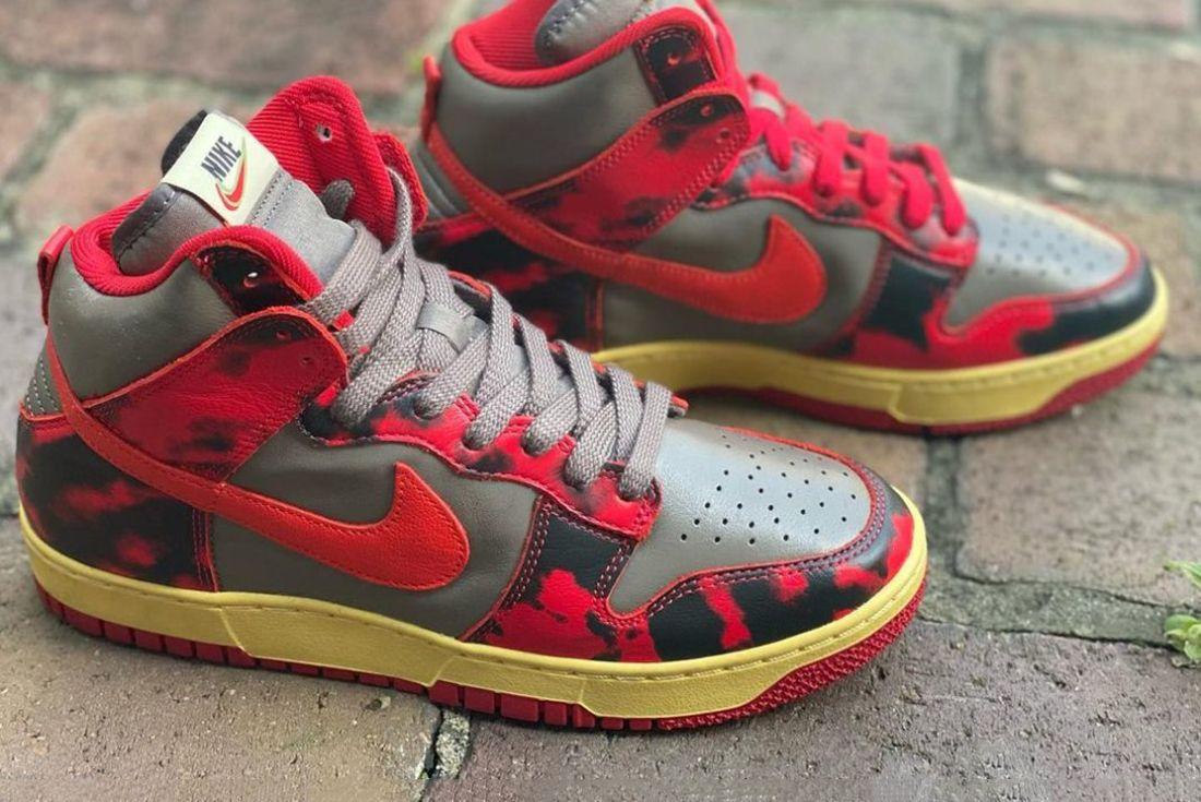 Nike Dunk High 'Red Camo' leak