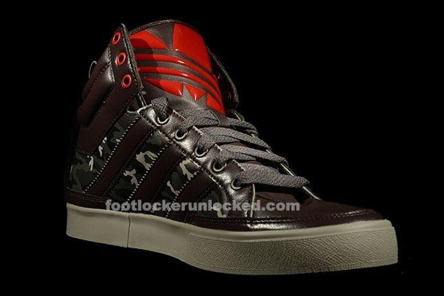 Adidas Top Court Camo Brown Angle 1