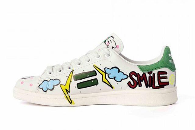 Pharrell Williams Hand Painted Adidas Originals Stan Smith 8