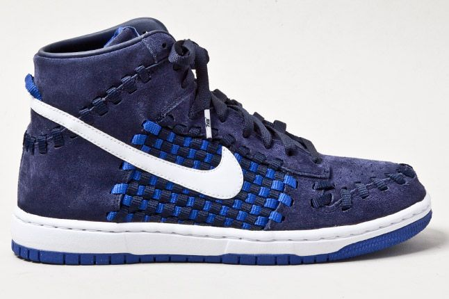 Nike Dunk Woven Checkerboard Blue 3 1