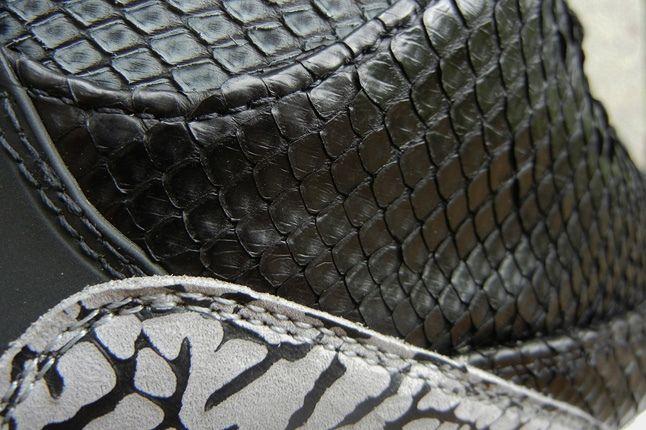 Jbf Customs Aj3 Incomparable Black Python Midfoot Detail 1