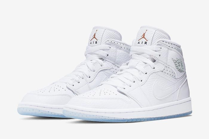 Air Jordan 1 Mid Nos Differences Nous Unissent Ci9100 100 Three Quarter Lateral Side Shot