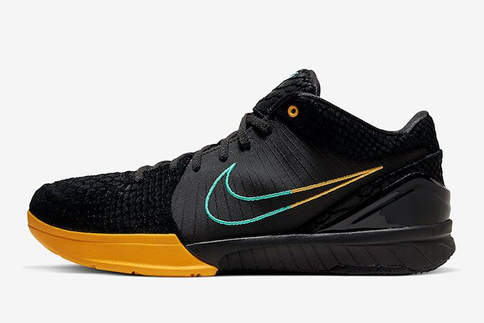 Nike Zoom Kobe 4 Protro Black Snake Aurora Green University Gold Av6339 002 Lateral