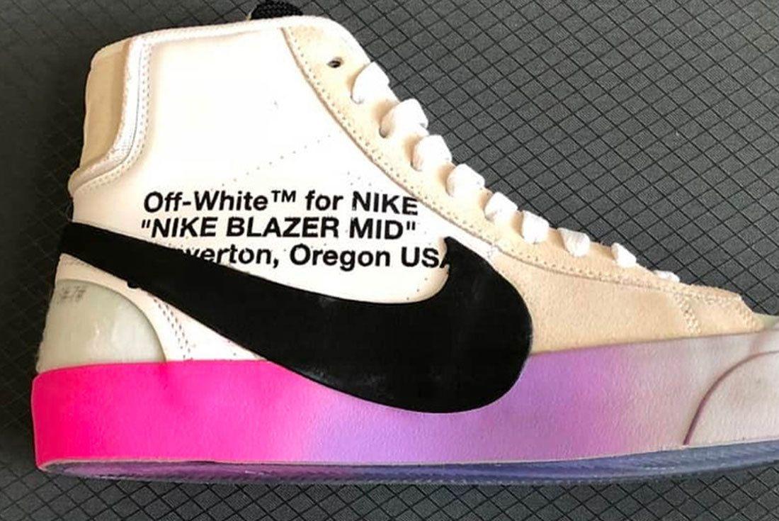 Virgil Abloh Nike Blazer Rainbow Sole Release 001 Sneaker Freaker