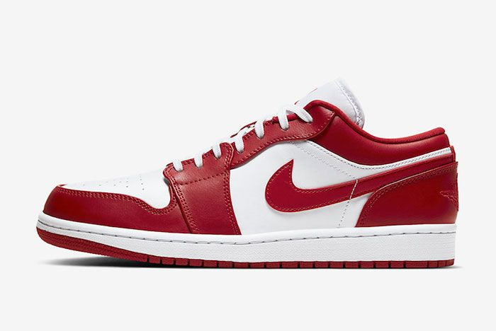 Air Jordan 1 Low Gym Red White 553558 611 Release Date Priceofficial