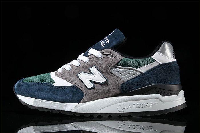 New Balance 998 Navy Green 6