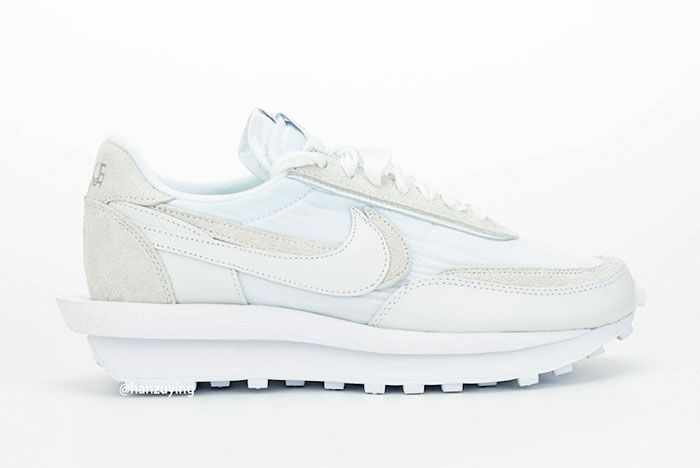 Sacai Nike Ldwaffle White Nylon Right