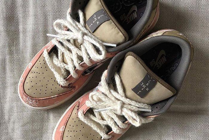 Travis Scott Nike Sb Dunk Low Custom Top