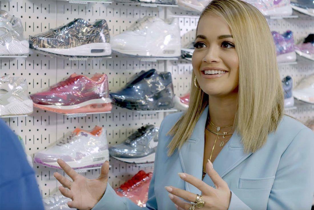 Rita Ora Sneaker Shopping 1