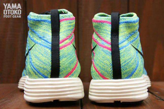Nike Lunar Flyknit Chukka Blue Glow Heel 1
