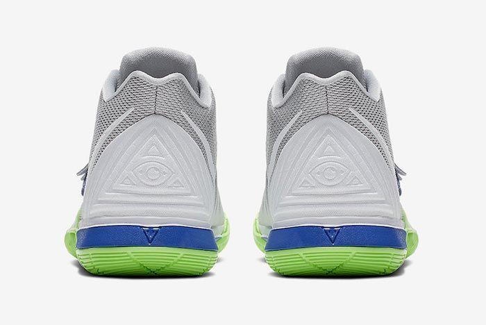 Nike Kyrie 5 Wolf Grey Lime Blast Heels