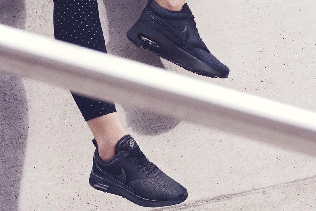 Nike Air Max Thea Premium Womens Beautiful Powerful Black Style