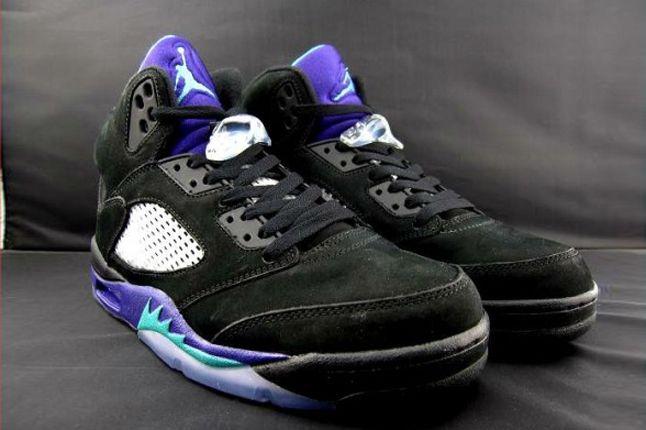 Air Jordan V Black Grape Hero 1