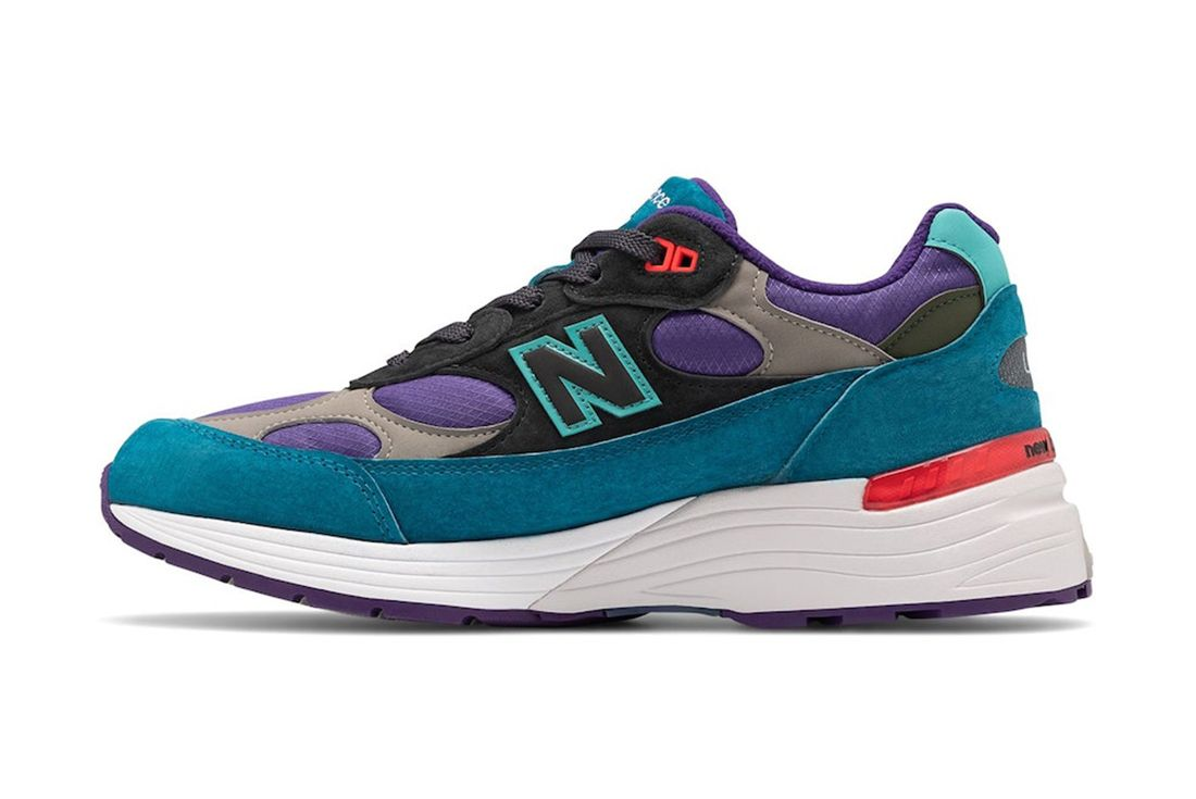 New Balance 992 Teal Purple Left