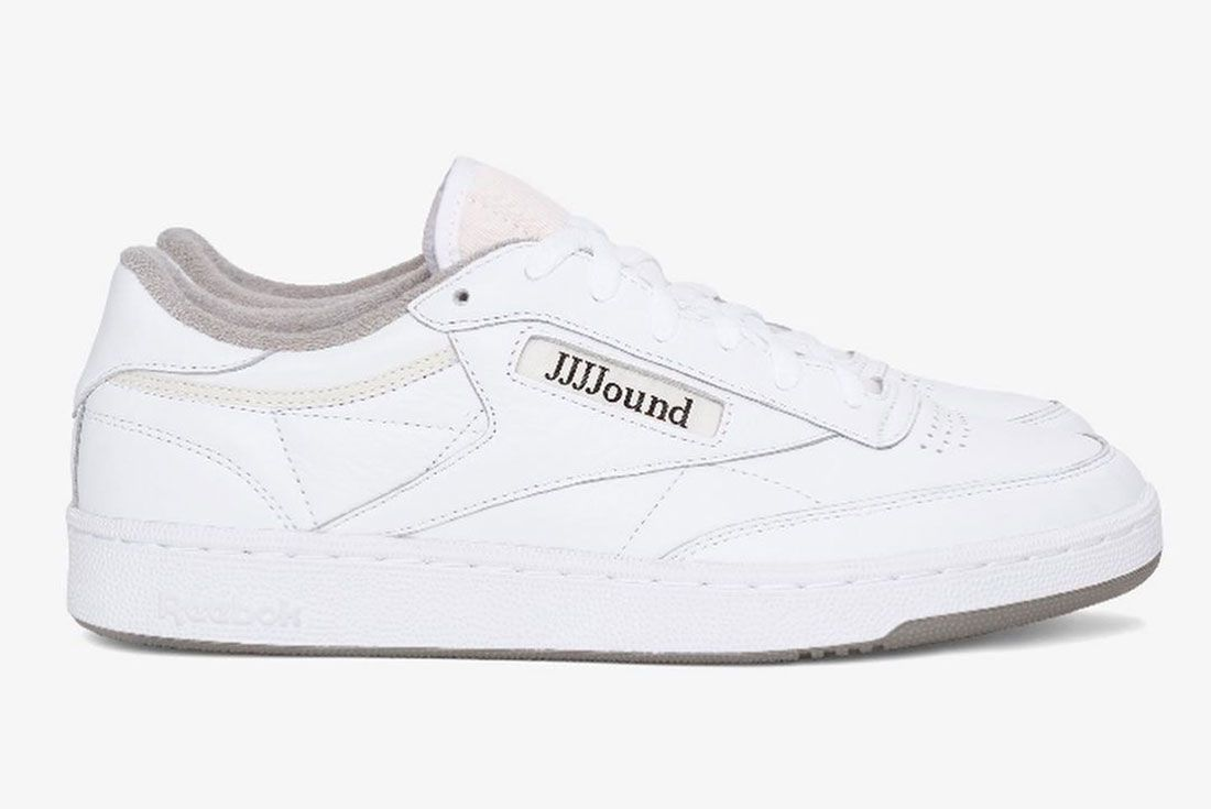 Jjjjound Reebok Classics Club C 85 White Close Up Side Shot