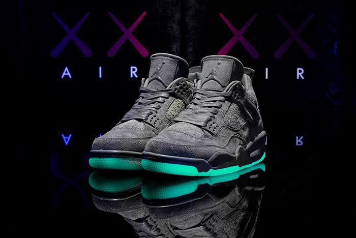 Kaws X Air Jordan 4 Glow In Action190