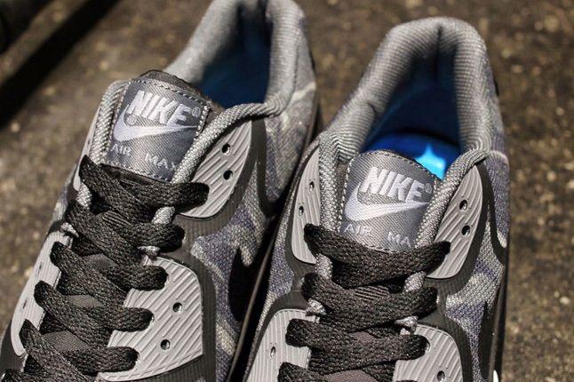 Nike Am90 Prm Tape Black Camo Tongue Detail 1