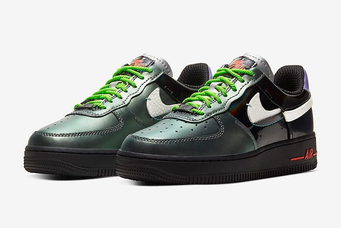Nike Air Force 1 Vandalized Three Quarter Shot