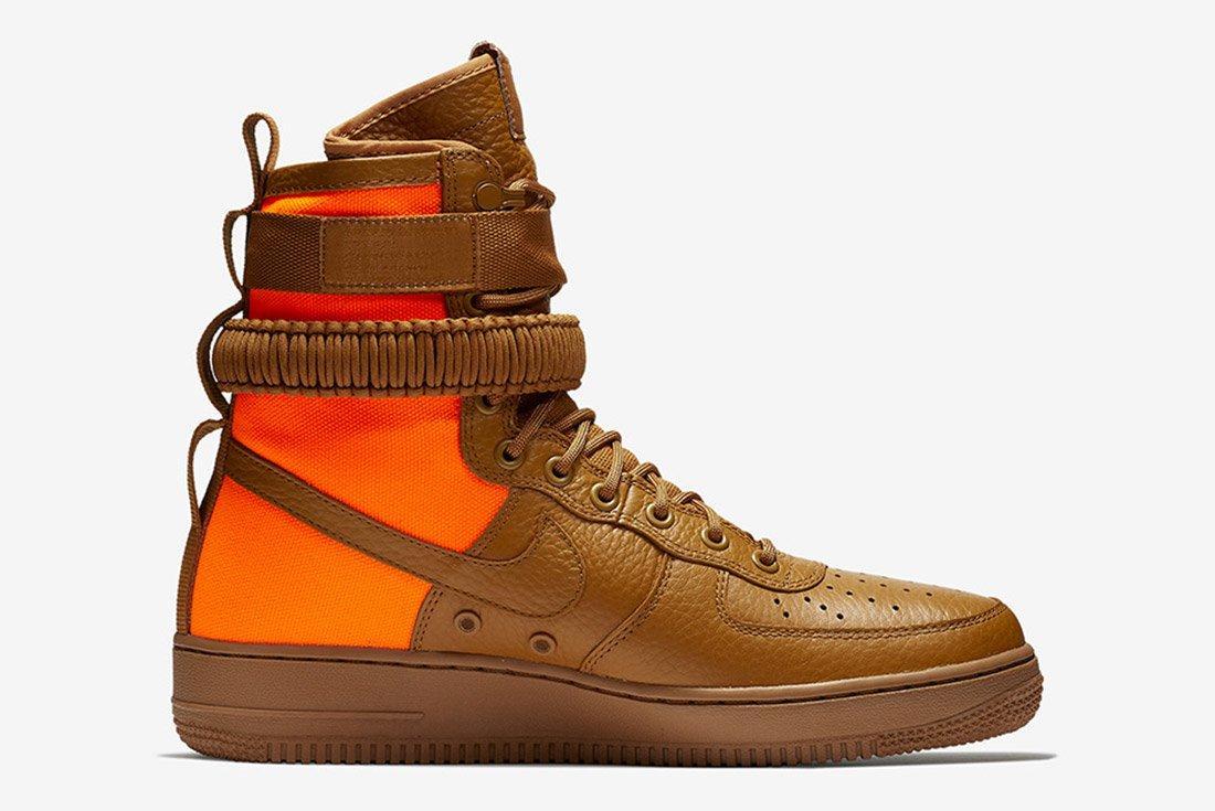 Nike Sf Air Force 1 Desert Ochre Brown Orange 4