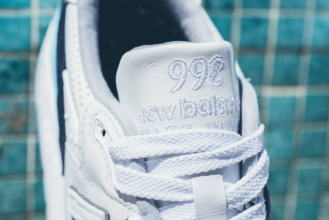 New Balance 998 White Navy Blue 6