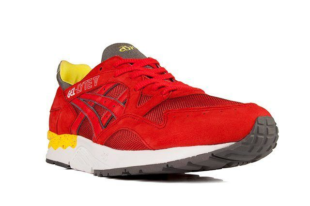 Asics Gel Lyte V Fiery Red Yellow 2