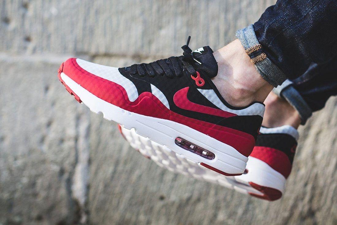 Nike Air Max 1 Ultra Essential Gym Red Black 1