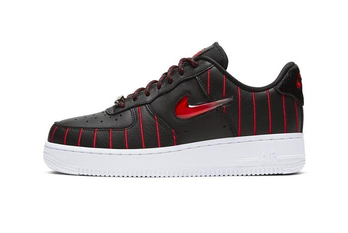 Nike Air Force 1 Jewel Black University Red Lateral