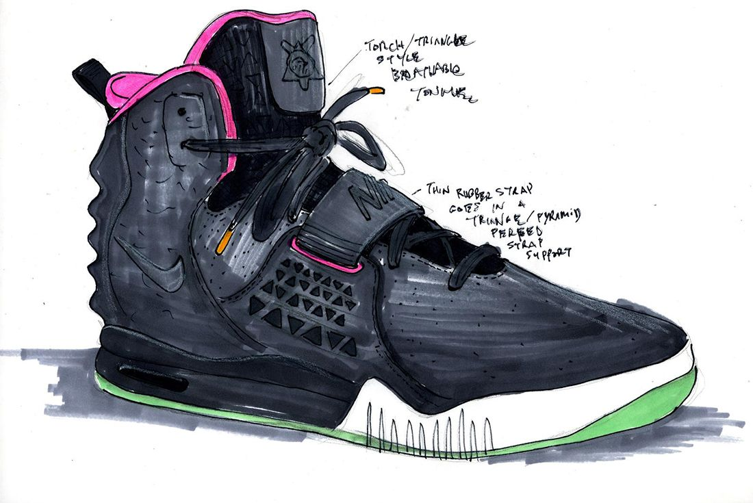 Material Matters History Of Yeezy Nike Design Sketch