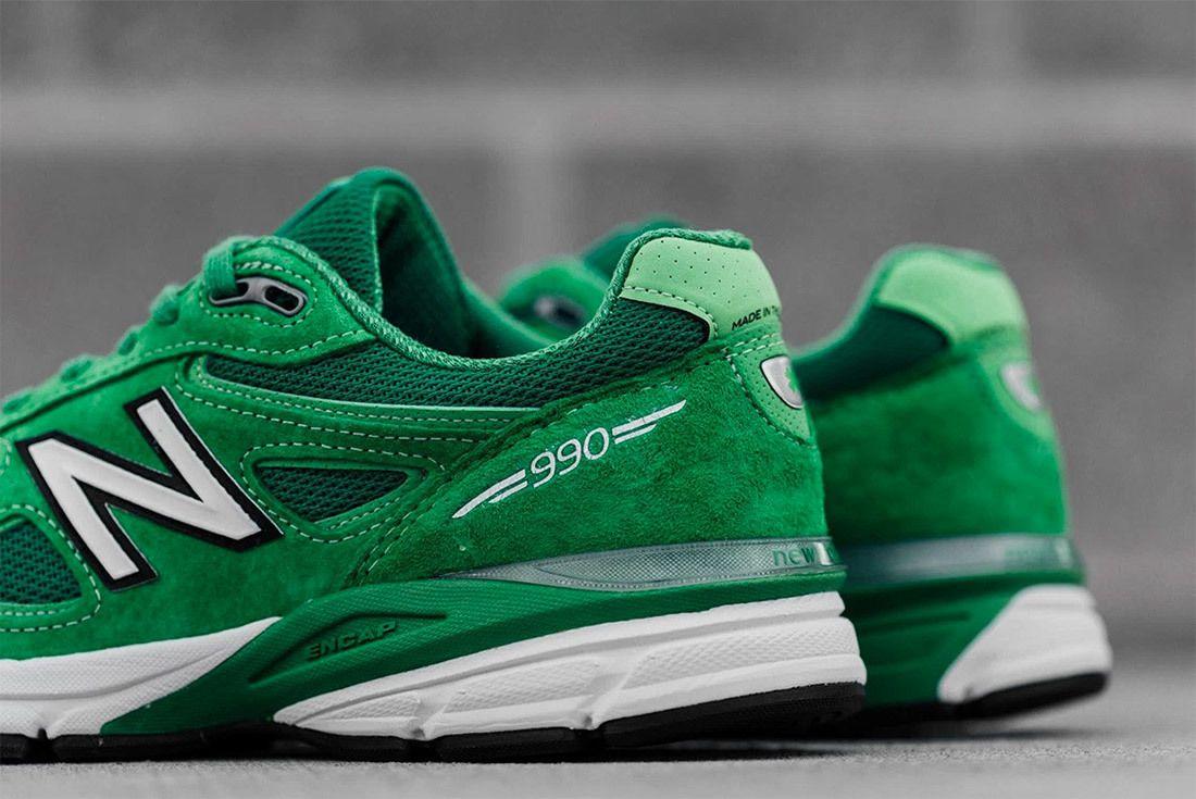 New Balance 990 V4 Green 1