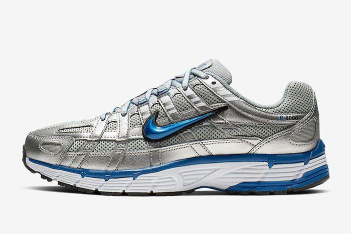 Nike P 6000 Metallic Silver Laser Blue Bv1021 001 Side Shot 6