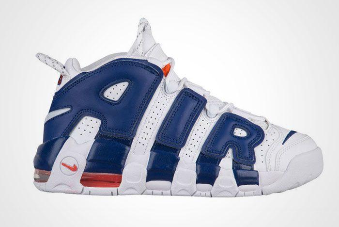 Nike Air More Uptempo White Blue Knicks Thumb