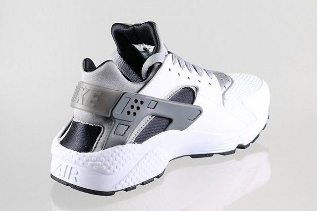 Nike Air Huarache White Black Grey 5