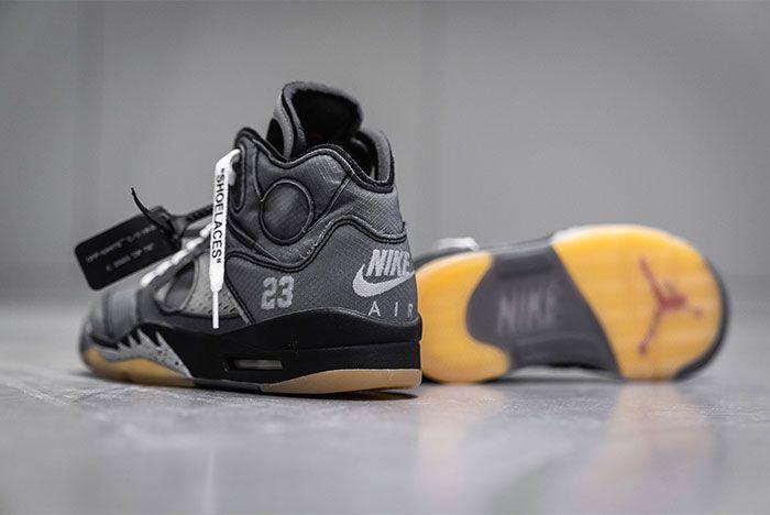 Off White Air Jordan 5 Heel